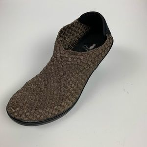 Corky's Metallic Bronze Woven Ankle Boots Size 9